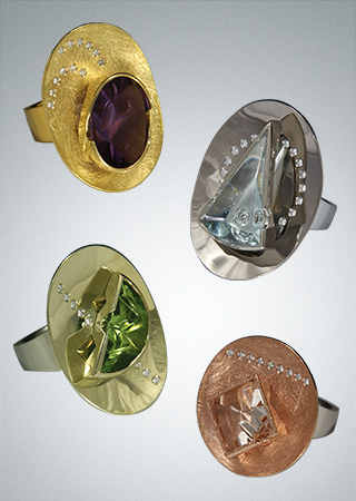 Vickie Riggs Designs - Alluring Lily Pad Rings Series