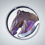 Floating Opal Horse Medallion