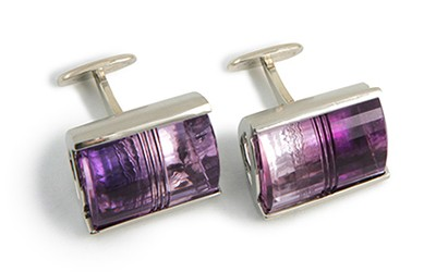 Amethyst Quartz Cufflinks