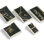 Pyrite and Slate Ring Tops